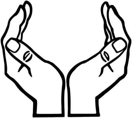 カップ状の手