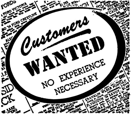 Customers Wanted Stock Illustratie