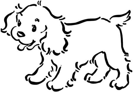 Cute Puppy Dog Vector
