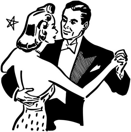 classic dance: Pares de la danza Vectores