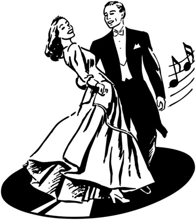 Dancers On A Record Illustration
