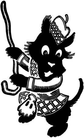 scot: Dancing Scottie Illustration