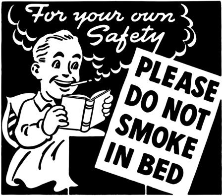 Do Not Smoke In Bed Vector