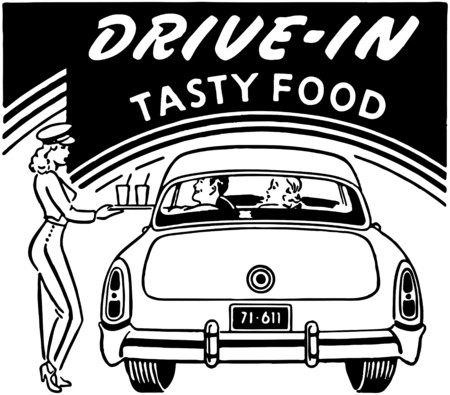 Drive-In Tasty Food Vector
