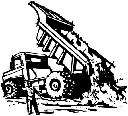 heavy construction: Dumptruck Unloading