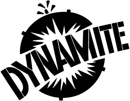 dinamita: Dinamita Banner Vectores