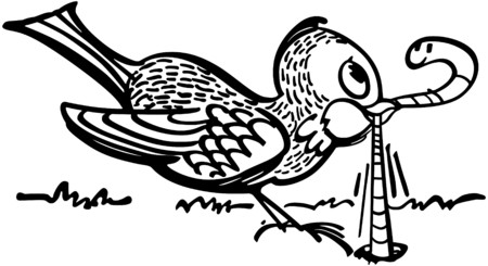 Early Bird Gets The Worm Illustration