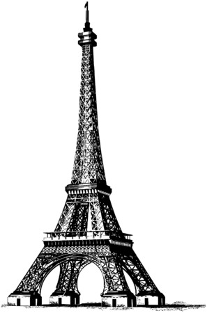 francais: Eiffel Tower 2 Illustration