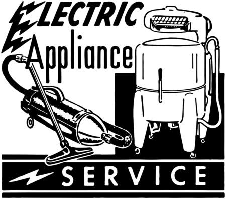 electrical appliance: Servicio de Electrodom�sticos Vectores