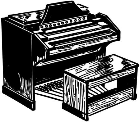 Electric Organ Illustration