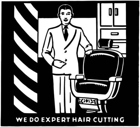Expert Hair Cutting Vector