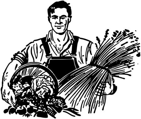 fresh produce: Farmer With Fresh Produce