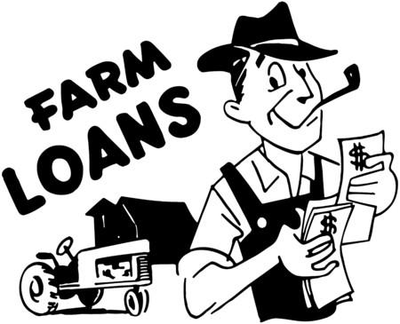 wealthy: Farm Loans Illustration