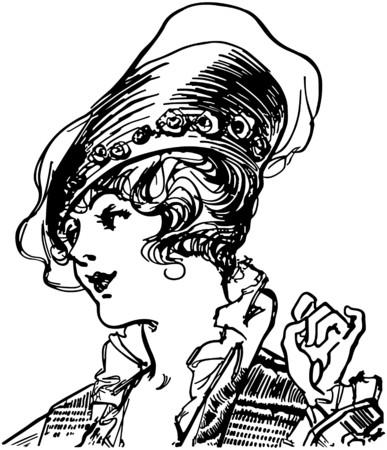 francais: Fashionable Early Century Gal