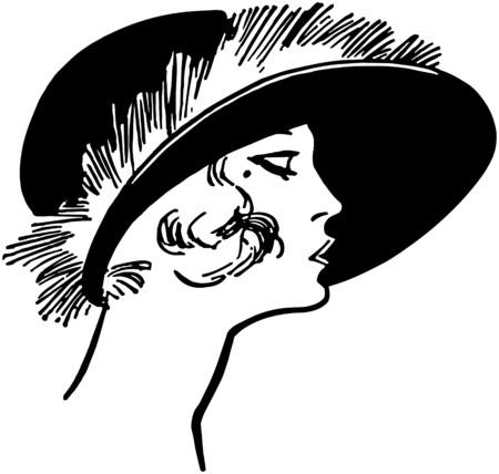 francais: Fashionable Twenties Lady