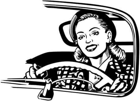 Female Motorist Stock Illustratie