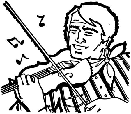 Fiddle Player Ilustrace