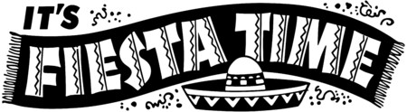 Fiesta Time Banner Vector