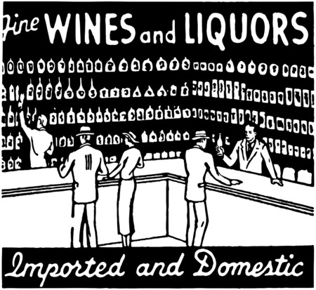 Fine Wines And Liquors Vector