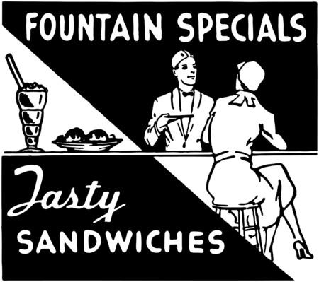 soda pop: Fountain Specials Illustration