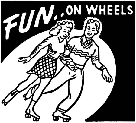 roller skates: Fun On Wheels Illustration