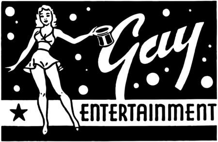 Gay Entertainment Stock Vector - 28336476