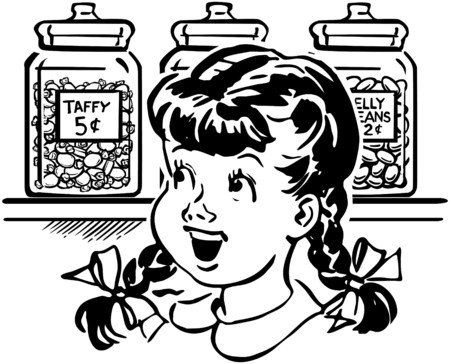 Girl In Candy Store