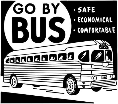 Go By Bus Illusztráció