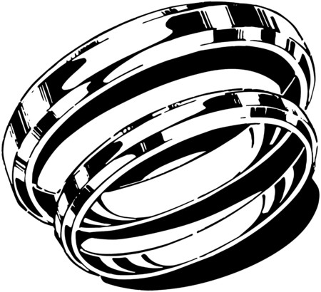 wedding band: Gold Band Set