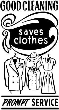 Good Cleaning Saves Clothes Vector