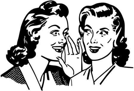 50s: Gossiping Women Illustration