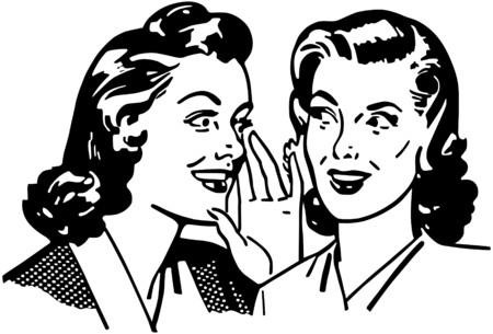 Gossiping Women Illustration
