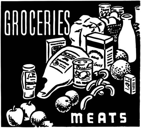 apples and oranges: Groceries Meats