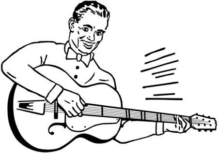 Guitar Player Illustration
