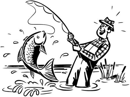 大きな 1 つをキャッチ漁師