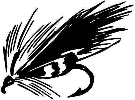 fly fishing: Fishing Fly 5 Illustration