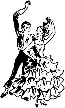 Flamenco Dancers 2 Vector