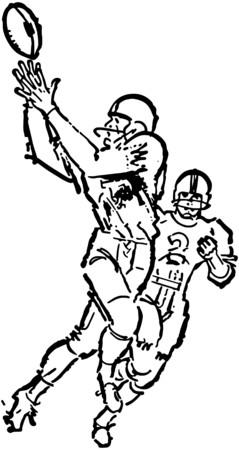 Football Receiver Illusztráció