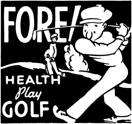 Fore Health Play Golf Vector