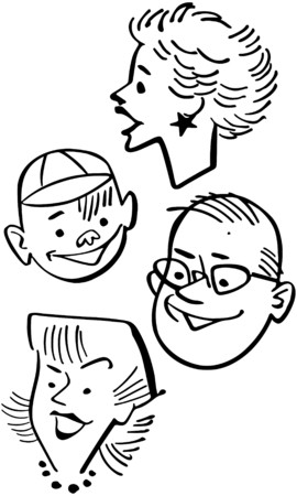 Four People Vector