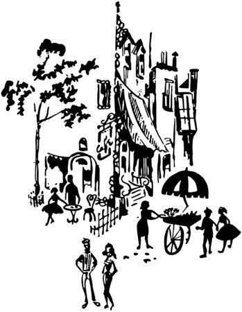 german swiss: French Street Scene