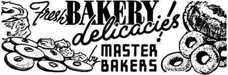 新鮮なパン屋さんの料理  イラスト・ベクター素材