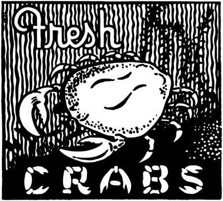 dinners: Fresh Crabs Illustration