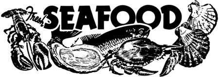 Fresh Seafood Vector