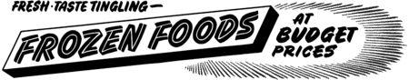 grocers: Frozen Foods Illustration