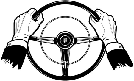 Hands On The Wheel Vector