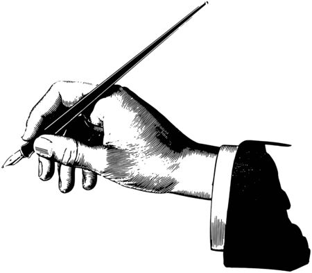 signing papers: Hand With Pen