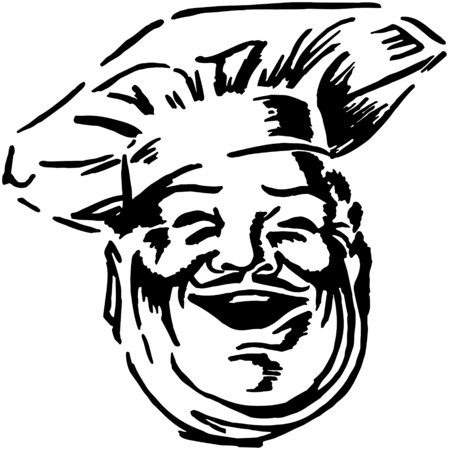 meats: Happy Chef Illustration