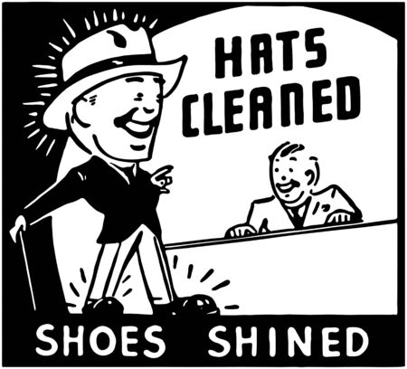 person shined: Hats Cleaned Illustration