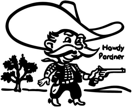 Howdy Pardner Vector